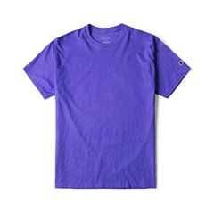Champion 2020春夏情侣款美版冠军男女明星同款袖 口logo短袖T恤休闲偏大需拍小一 码 情人节T425图片