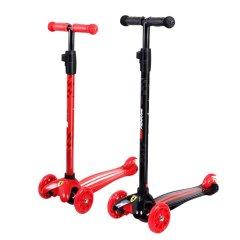 法拉利(Ferrari)儿童滑板车三轮踏板车小孩轮滑三挡高低调节车把可拆卸 插拔摇摆车图片