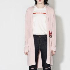MO&Co./摩安珂女士针织衫/毛衣俄罗斯套娃贴布绣中长款长袖V领针织开衫MA171CAR305图片