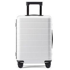 90FUN/90分轻质框体箱大容量轻盈静音万向轮密码锁行李箱 中性款式 聚碳酸酯 24寸 拉杆箱图片