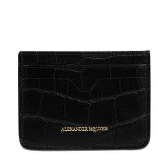 【可用券】【17秋冬】 Alexander McQueen/亚历山大麦昆 女士 皮革 钱包 时尚 logo装饰 浅粉色 MF 尺寸:10*7.5*0.5图片