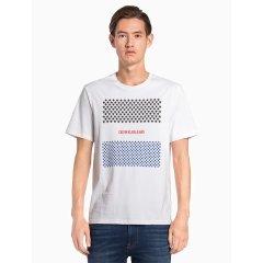 男士纯棉圆领Logo印花短袖T恤图片
