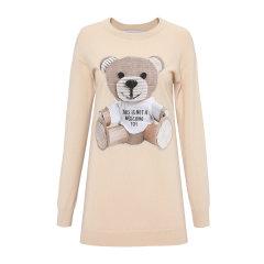 MOSCHINO/莫斯奇诺 新款经典纸箱熊长袖羊毛女士连衣裙MOS0017L39图片