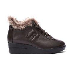 Ruco Line/Ruco Line 秋冬 毛绒边小羊皮舒适柔软系带女士休闲鞋图片