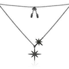 APM Monaco/APM Monaco黑色 玫瑰金色 大小星星/双流星项链、吊饰、项坠 锁骨毛衣链女 AC3351BZT RC3351OX图片