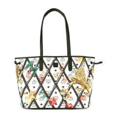 MCM 女士狮子钻石彩色图案印花时尚双面子母包单肩手提包女包 多色可选图片