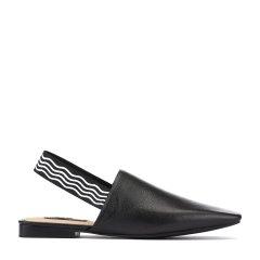 BENATIVE/本那2018春夏新品 时尚舒适摔纹胎牛皮平跟凉鞋 纯色女士拖鞋BN01811021图片