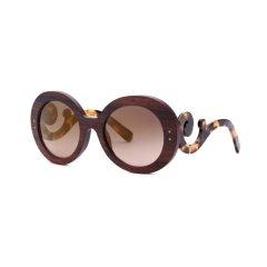 PRADA/普拉达男女款祥云太阳镜 SPR27R-F亚板木质圆框墨镜 太阳眼镜图片