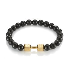 【Designer Jewelry】CHISELED/麒司特18k金哑铃松石串珠手链图片