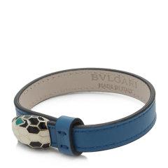 【包税】BVLGARI/宝格丽  女士多色小牛皮手镯 28329蓝色 20cm图片