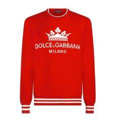 Dolce&Gabbana/杜嘉班纳  18秋冬新款 男士红蓝二色Dolce&Gabbana Milan与皇冠毛衣图片