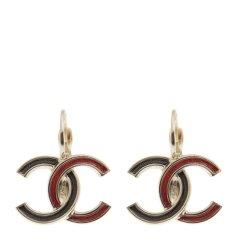 【包税】Chanel 香奈儿 【18春夏】女士拼色金属经典双C时尚耳钉耳饰图片
