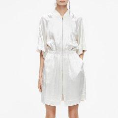 MO&Co./摩安珂女士连衣裙2019夏季新品棒球立领收腰连衣裙MAI2DRS006图片