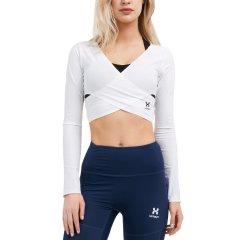 美国HOTSUIT健身衣女夏季新款修身休闲弹力长袖塑形短款上衣图片
