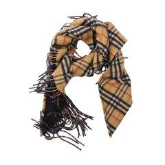 BURBERRY/博柏利18秋冬Vintage女士羊绒毛边格纹 丝巾 406887图片