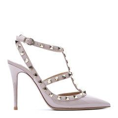 VALENTINO 华伦天奴  皮革  ROCKSTUD 100 女士 踝带高跟鞋 MW2S0393 漆皮图片