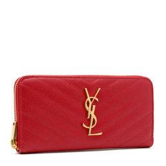 Yves saint Laurent/圣罗兰 女士牛皮斜纹长款拉链钱包358094图片
