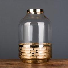GeleiStory/GeleiStory金属与玻璃的艺术花瓶花瓶器皿伴手礼 送闺蜜 生日礼物情人节礼物 店铺特惠图片