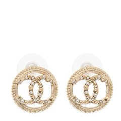 【包税】CHANEL/香奈儿  女士新款圆环双C珍珠装饰耳钉耳环耳坠 A58058-CA07图片