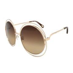 【2018新品】CHLOE/克洛伊 蔻依女士太阳镜 时尚大框圆形可戴镜链款墨镜眼镜  CE114SD 58/62mm图片