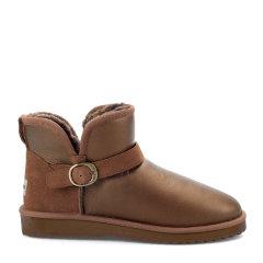 COZY STEPS/COZY STEPS真皮羊毛内里雪地靴男士靴子 金属棕+栗色 44图片