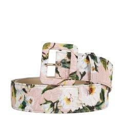 Dolce&Gabbana/杜嘉班纳  女士复古印花针扣腰带 BE1220AE549 粉色 90图片