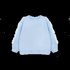 Hana&Shida/花下 18秋冬 新款女童蓝粉网纱袖子拼接卫衣图片