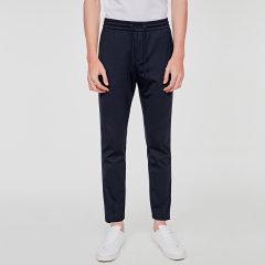 【DesignerMenwear】SEANBYSEAN/SEANBYSEAN男士休闲裤春夏新款布腰带蓝色休闲裤图片