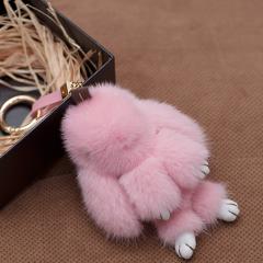 pinganzhe 限量哥本哈根进口水貂毛兔子挂件创意包包钥匙扣汽车饰品 箱包包挂饰挂件图片