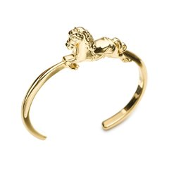 Galtiscopio/迦堤 手镯马型金色银色 女欧美气质简约大气合金镀金手链图片