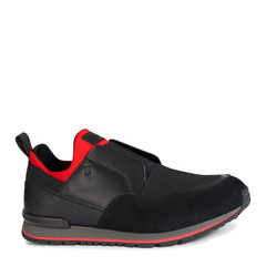Tod's/托德斯男士黑色男士休闲鞋牛皮运动鞋图片