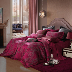 YOLANNA 贝拉床品全棉四件套 床上用品被套床单枕头套图片