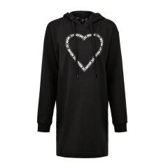 LOVE MOSCHINO/LOVE MOSCHINO 女士棉质混纺连帽爱心图案长袖卫衣款连衣裙图片