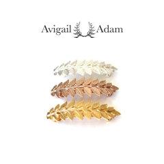 Avigail Adam美国纽约手工制造艺术风格首饰品牌女式Athena系列雅典娜系列树叶弹簧夹头饰Athena Leaf Barrette图片