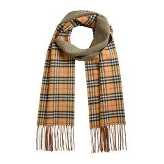 【包税】【双色可选】BURBERRY/博柏利  双面两用格纹羊绒中性款围巾# 4060423图片
