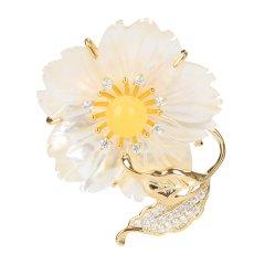 MIKO/蜜库珠宝 琥珀蜜蜡胸饰 女款可爱时尚小蜜蜂蜜蜡胸针/吊坠 自然系列胸饰 蜜蜡胸花图片