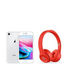IPHONE 8 银色 256GB 配beats 头戴压耳式蓝牙耳机 solo3 wireless图片