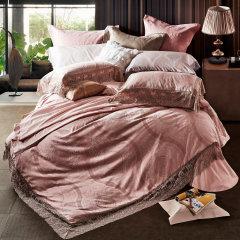 YOLANNA 高端床品1.8米床蕾丝公主婚庆长绒棉四件套图片