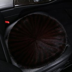 pinganzhe 进口汽车貂毛单片冬季保暖皮草座垫 车家两用貂毛坐垫  沙发垫 单片棕色.(单片) 全部图片