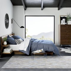 DOWNESSA冬日布拉格 设计师原创毛皮拼接地毯图片