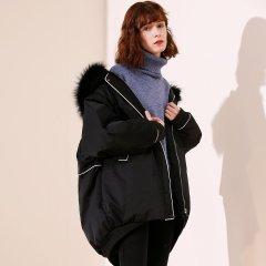 TATU/她图女款欧美风时尚宽松中长款女士羽绒服图片