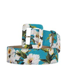Dolce&Gabbana/杜嘉班纳  女士复古印花针扣腰带 BE1220AE549 蓝色 85图片