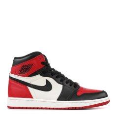 【限量款】nike/耐克 Air Jordan 1 OG 乔1 AJ1 男士 黑红脚趾小闪电白蓝黑灰 555088-610图片
