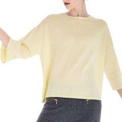 Zynni Cashmere/臻尼羊绒女士针织衫/毛衣夏季超薄纯绒七分袖羊绒衫 2241A图片