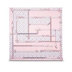 预订款2-3周发货 Louis Vuitton/路易威登  MONOGRAM 女士锁链方形真丝丝巾 三色可选图片