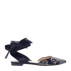 【满2199赠水钻凉鞋】73hours/73hours 马拉喀什 女士夏季新款缎面平底鞋刺绣单鞋平跟鞋图片