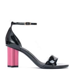 BENATIVE/本那2018春夏新品 性感时尚 十字跟高跟鞋 露趾一字带凉鞋图片