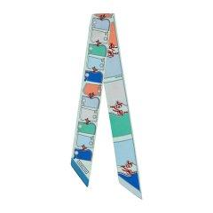 【礼盒装 多色可选】HERMES/爱马仕  Twilly系列护颈印花女士多色窄边丝巾#H063358S 05图片