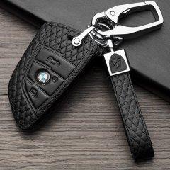 【奢品节可用券】pinganzhe 新款 宝马 专用汽车头层牛皮钥匙包 真牛皮钥匙包 钥匙套 钥匙扣D款 四键粉色 宝马图片