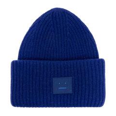 【包税】ACNE STUDIOS 艾克妮 男士羊毛时尚混合针织帽 蓝色 均码图片